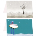 Seasonal Double Postcard Set Mix & Match by Tenno